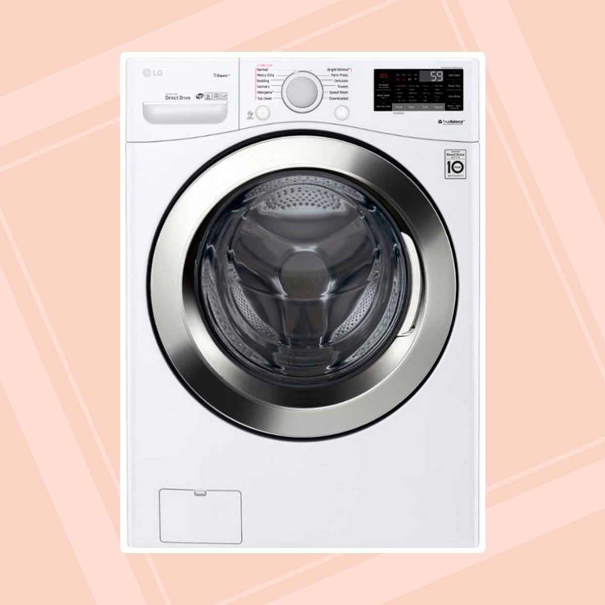 LG Front-Loading Smart Wi-Fi Washer with 6Motion Technology