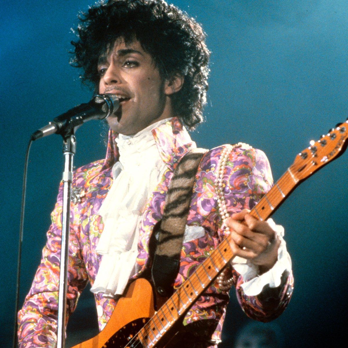 Mandatory Credit: Photo by Globe Photos/Shutterstock (115372a) Prince PRINCE IN CONCERT AT NASSAU COLISEUM, NEW YORK, AMERICA - 1985