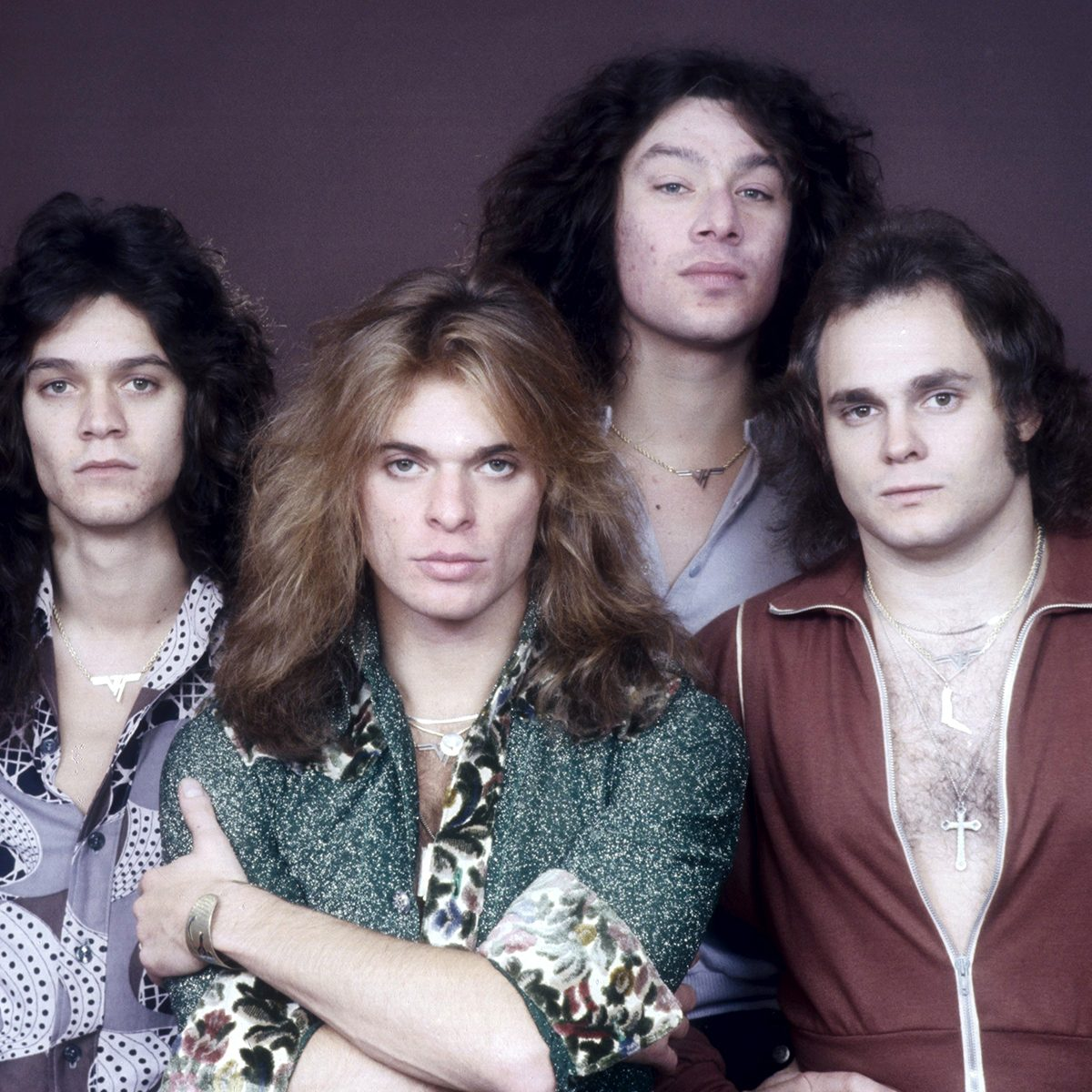 Mandatory Credit: Photo by Andre Csillag/Shutterstock (507570gx) Van Halen - Eddie Van Halen, David Lee Roth, Alex Van Halen and Michael Anthony in London, Britain - Oct 1978 VARIOUS