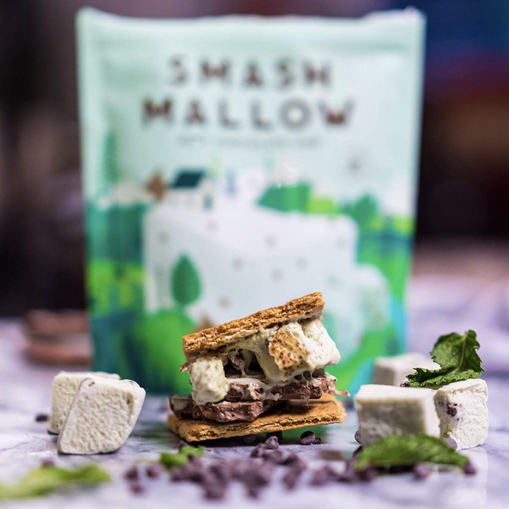 Mint Chocolate Chip by SMASHMALLOW | Snackable Marshmallows | Non-GMO | Organic Cane Sugar
