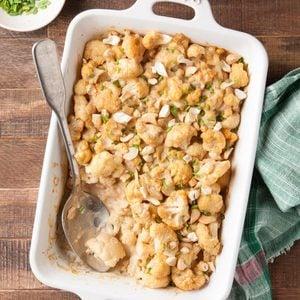 Cashew Cauliflower and Leek Gratin