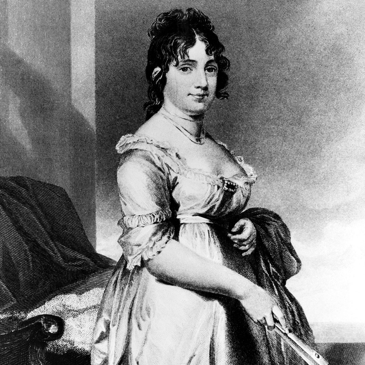 Dolley Madison (1768-1849), First Lady 1809-1817, c. 1818.