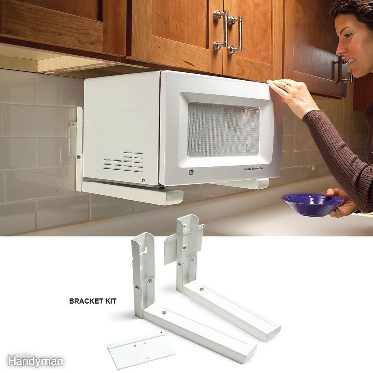 Installing microwave over the counter