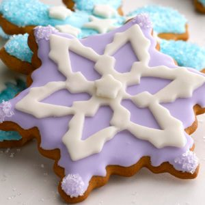 How to Decorate Snowflake Cookies