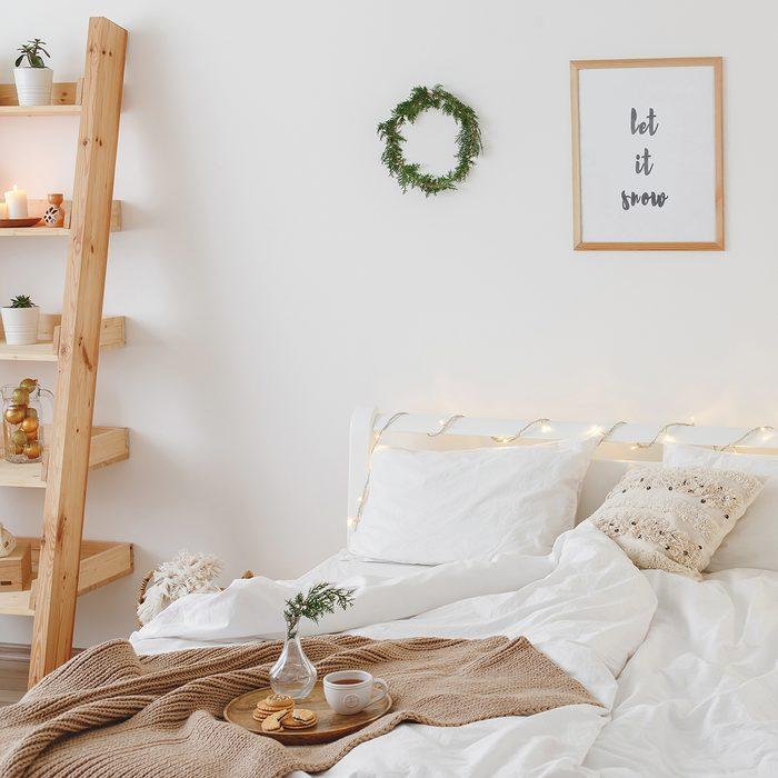 New year winter home interior decor.