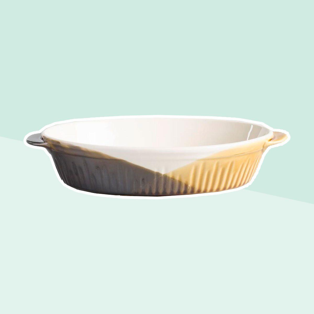Oval Reactive Glaze Ceramic Baker