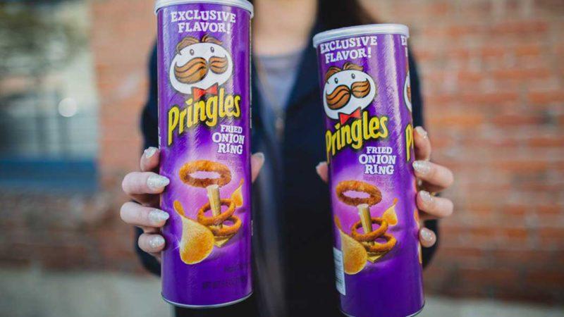 Onion ring Pringles