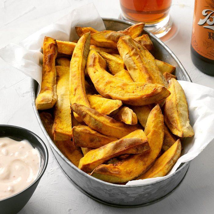 healthy pumpkin recipes - Pumpkin Fries With Chipotle Maple Sauce Exps Thcom19 236034 E02 27 6b 12