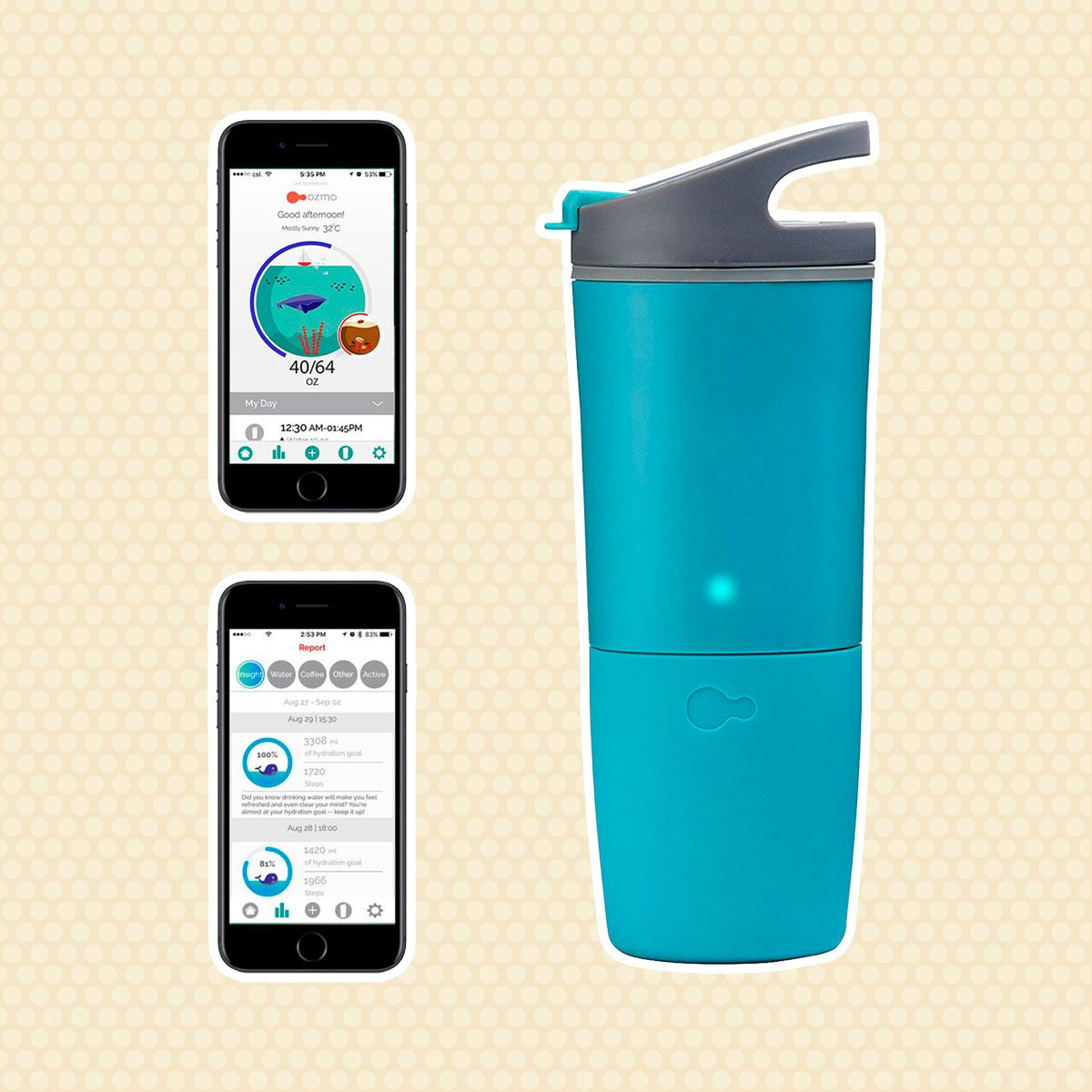 ozmo Smart Cup Hydration Tracker