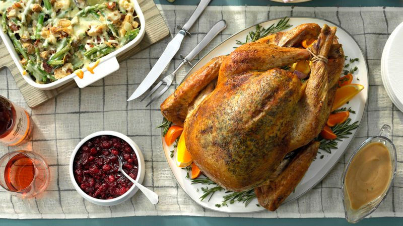 Chipotle Orange Cranberry Sauce; Citrus Herb Turkey; Thanksgiving Green Beans