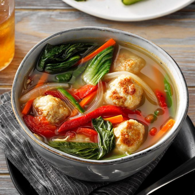 Vietnamese Chicken Meatball Soup With Bok Choy Exps Tohfm20 198499 E07 10 4b