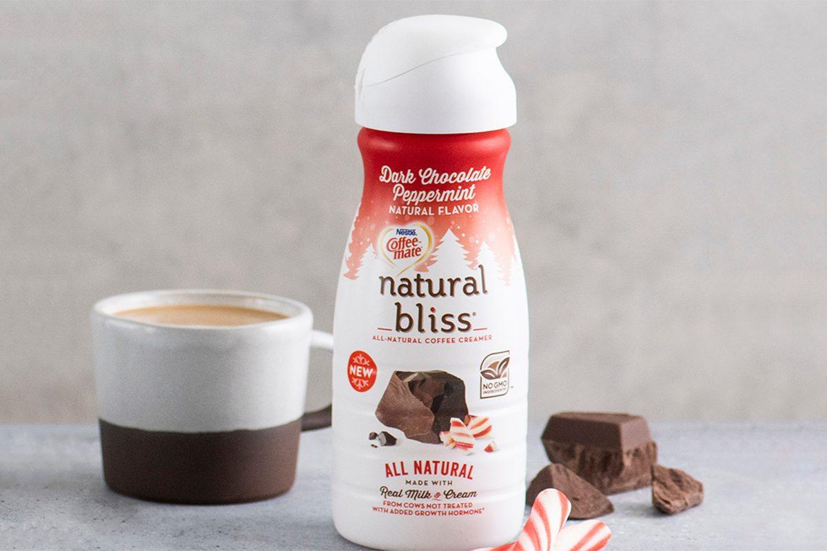coffee-mate natural bliss peppermint dark chocolate creamer