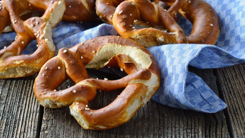 Fresh bavarian pretzels