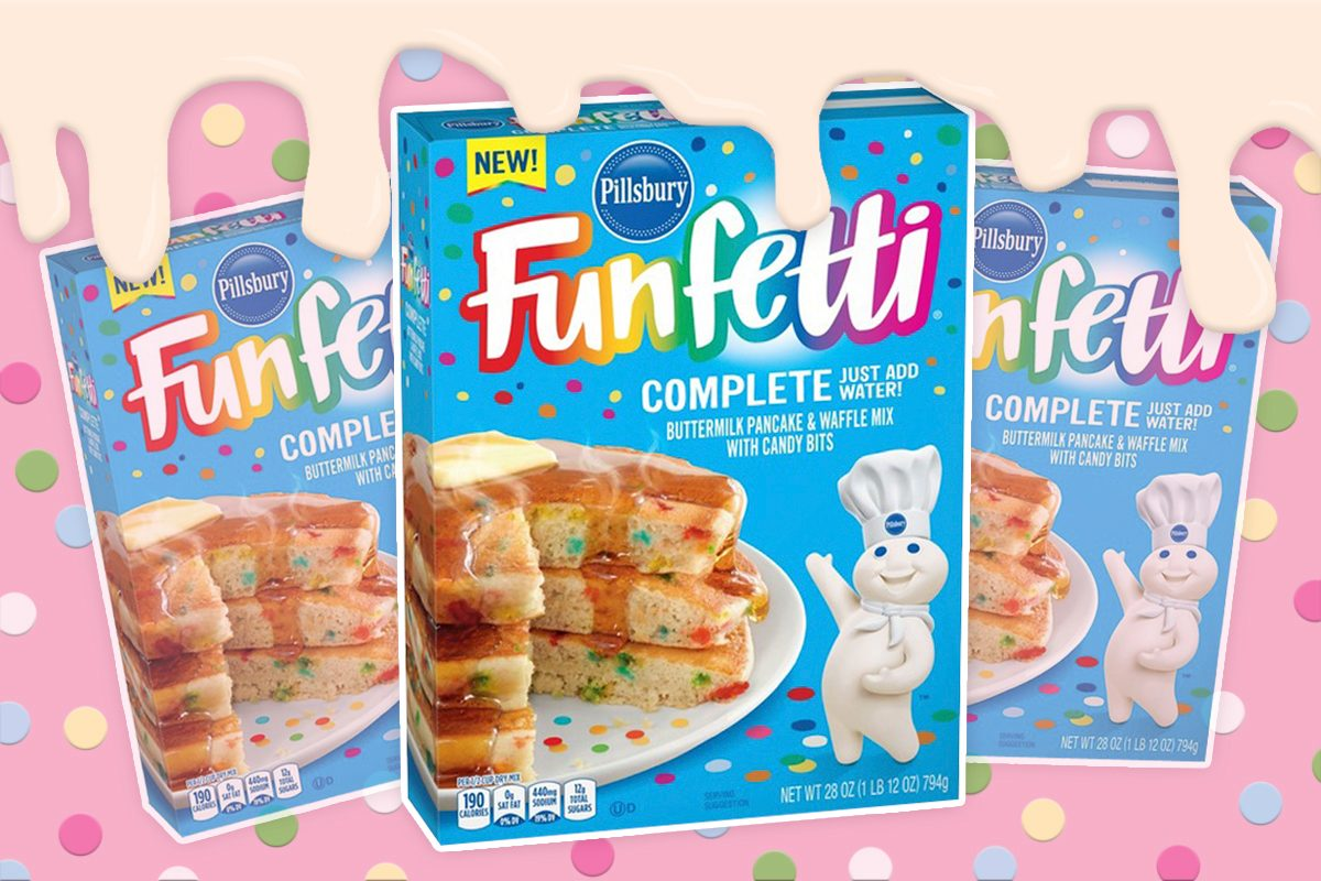 Sensational Funfetti Pancake Mix Is Birthday Cake For Breakfast Taste Of Home Personalised Birthday Cards Cominlily Jamesorg