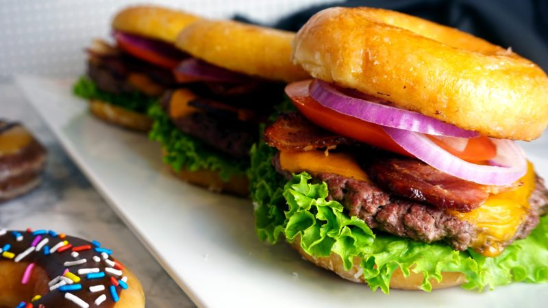 Krispy Kreme doughnut cheeseburger