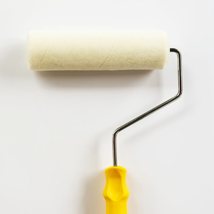 paint roller on white background.