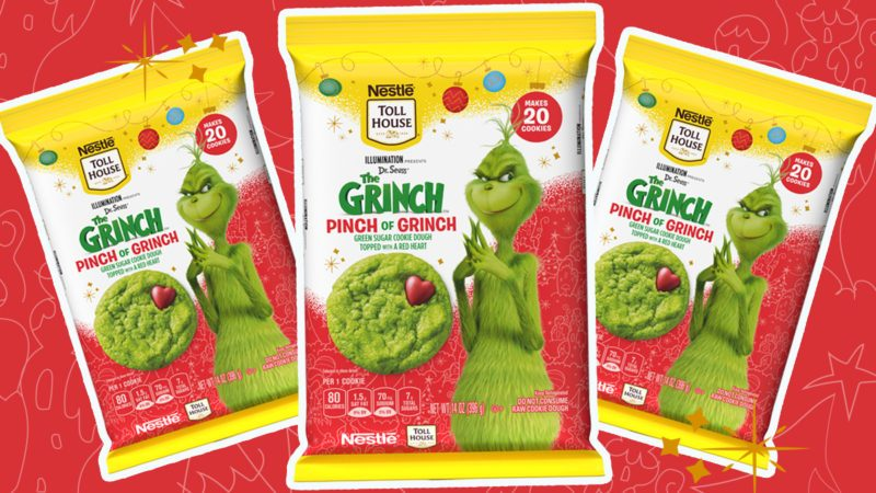 grinch cookie dough