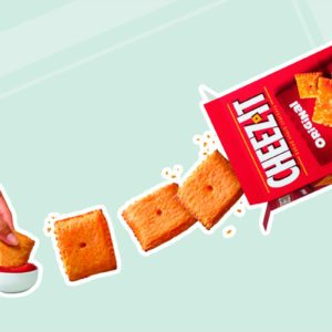 Pizza Hut cheez-its collab product
