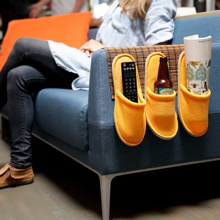 remote-holder slippers