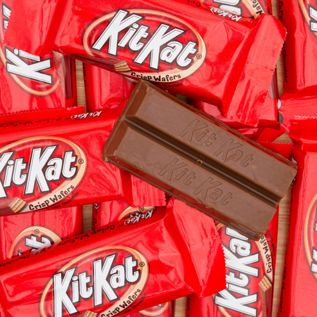 South Carolina, USA November 2016. Illustrative editorial of KitKat chocolate candy bar Background. KitKat chocolate bars are a favorite snack food in the USA and are used in a lot of dessert recipes; Shutterstock ID 1452364592; Job (TFH, TOH, RD, BNB, CWM, CM): Taste of Home