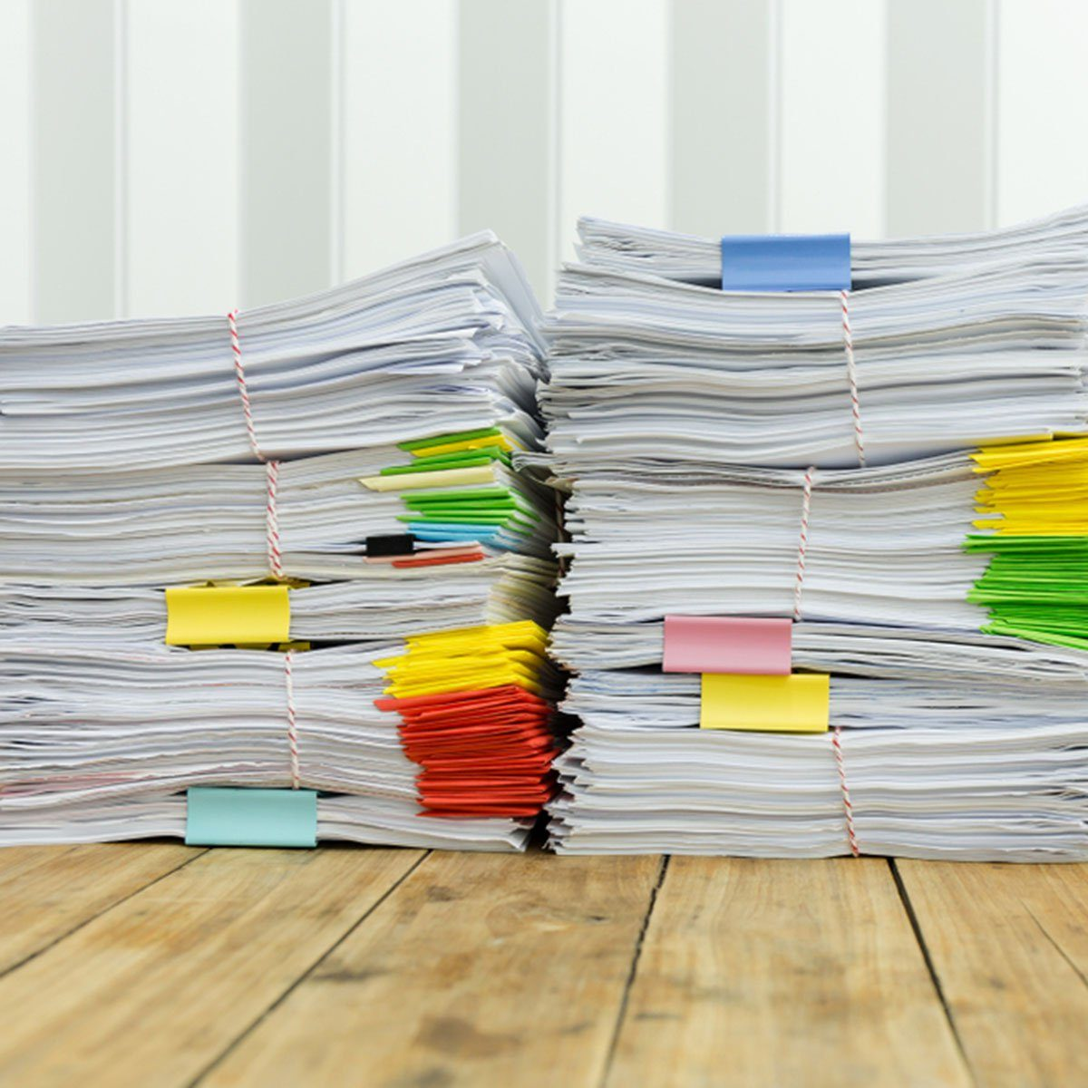 Paperwork pile messy of business financial put on desk.; Shutterstock ID 780809596; Job (TFH, TOH, RD, BNB, CWM, CM): Taste of Home