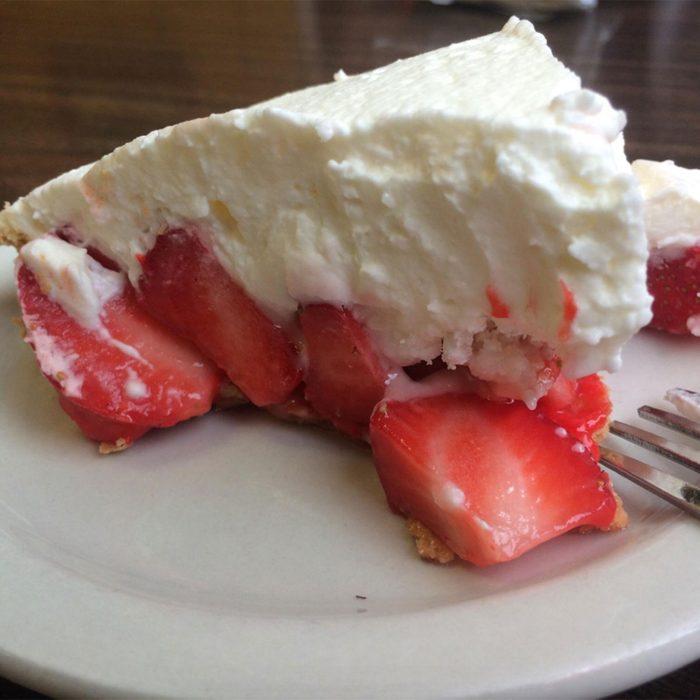 Strawn's Eat Shop strawberry pie slice