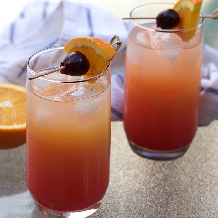 horizontal image sunrise cocktail
