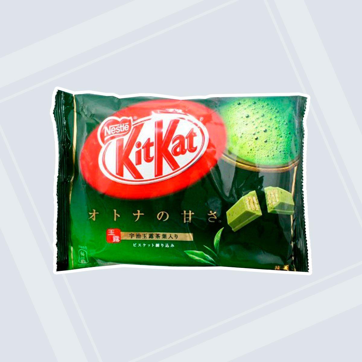 Green tea flavored KitKats