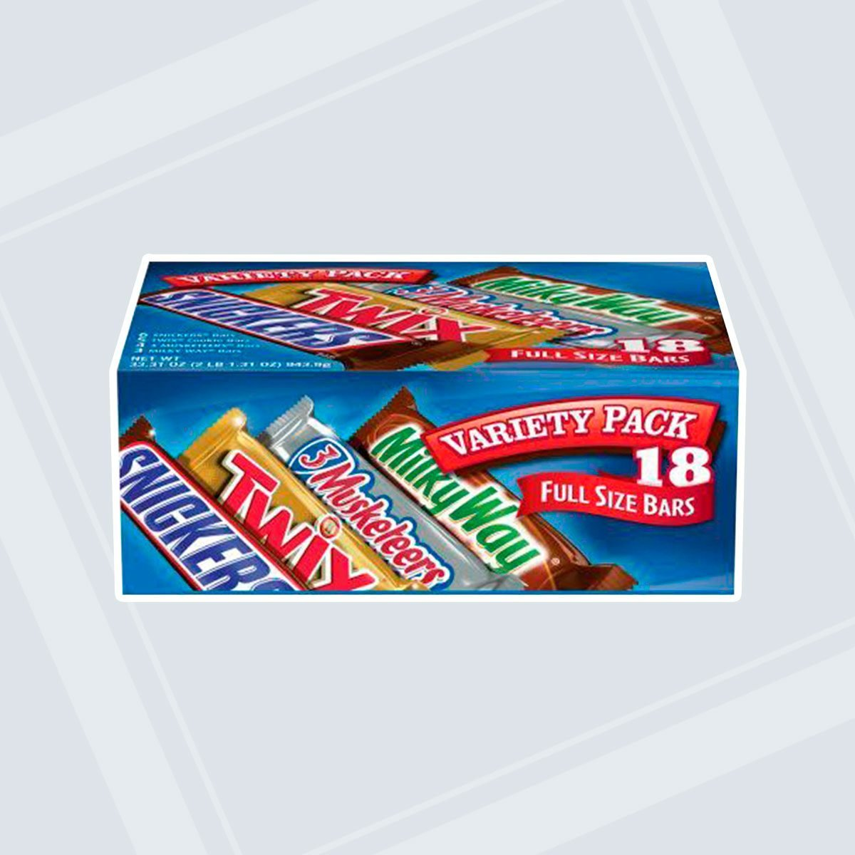 Mars full-size candy bars, variety pack