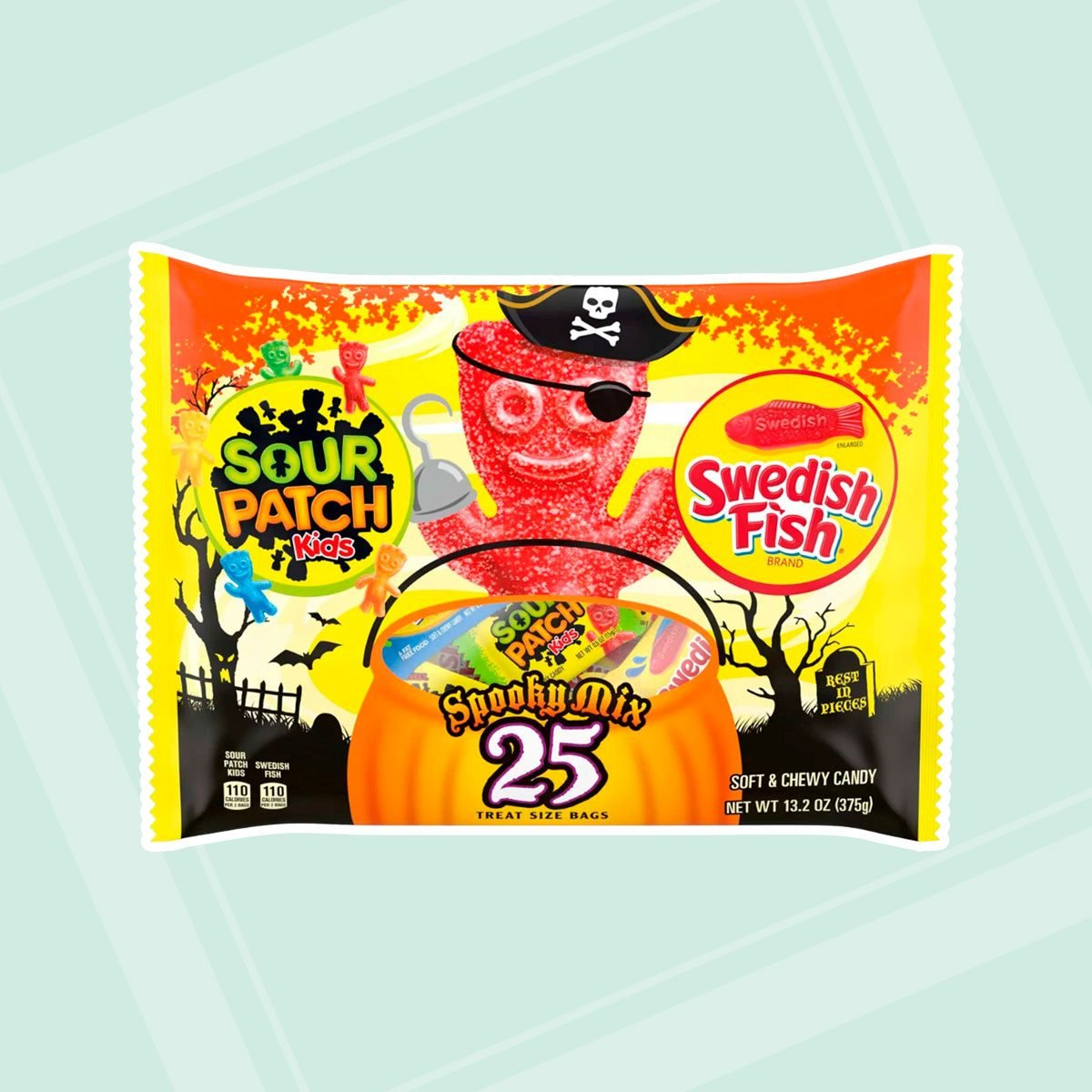 Sour Patch Kids & Swedish Fish Halloween treat size