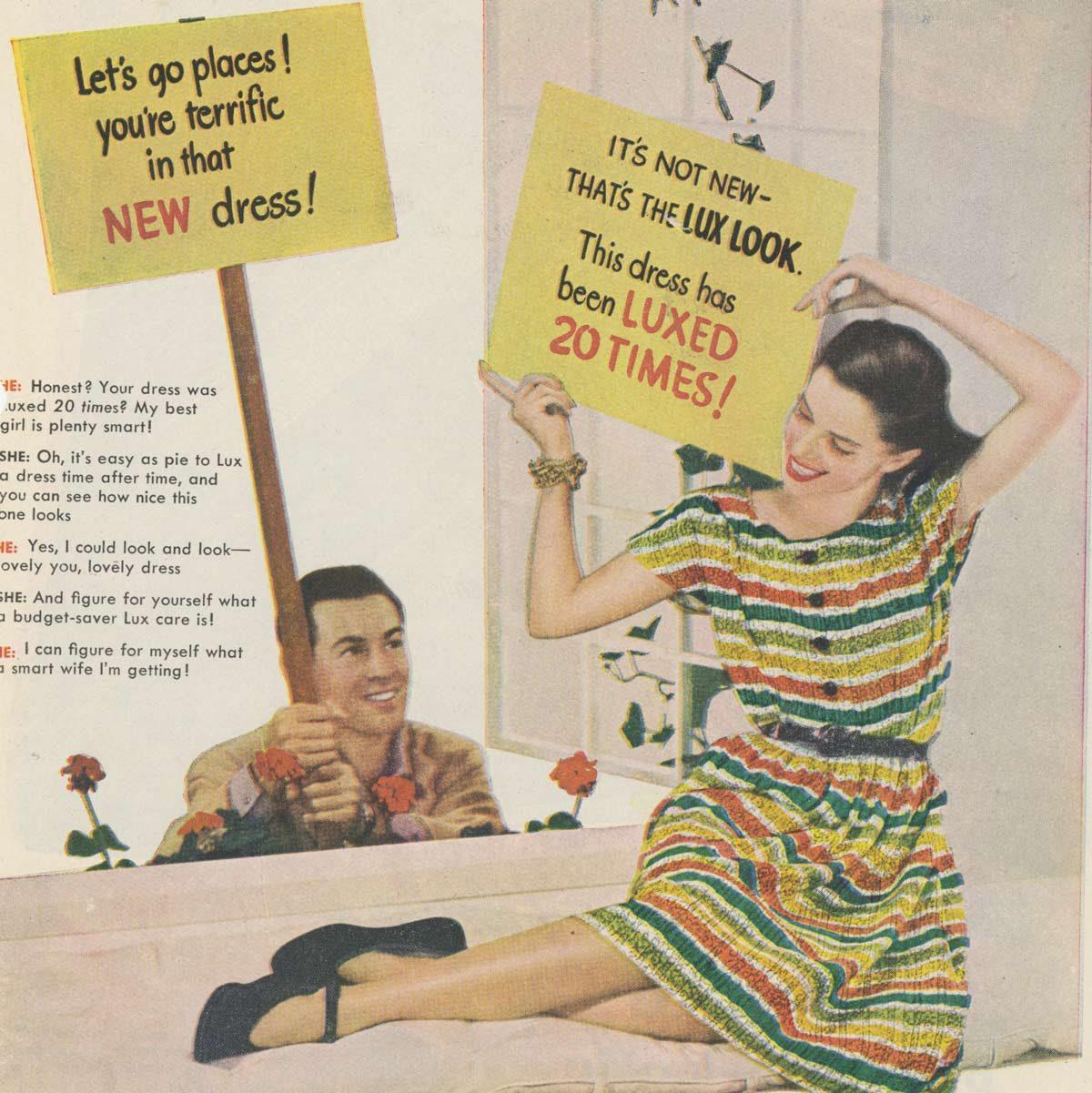 Lux vintage laundry detergent ad