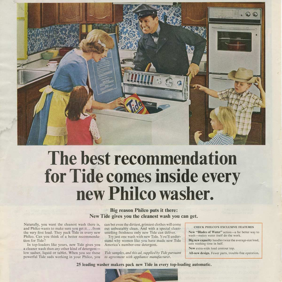 Vintage Philco washing machine ad