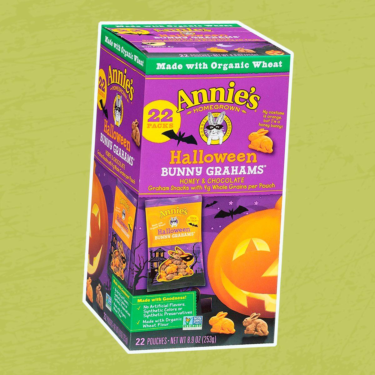 Annie's Halloween Bunny Whole Grain Graham Snacks, Honey and Chocolate