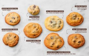 Perfect chocolate chip cookies, baked eight different ways.