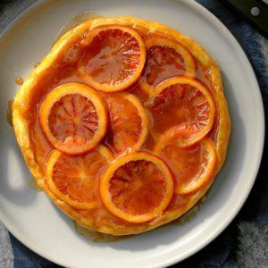 Blood Orange Caramel Tarte Tatin