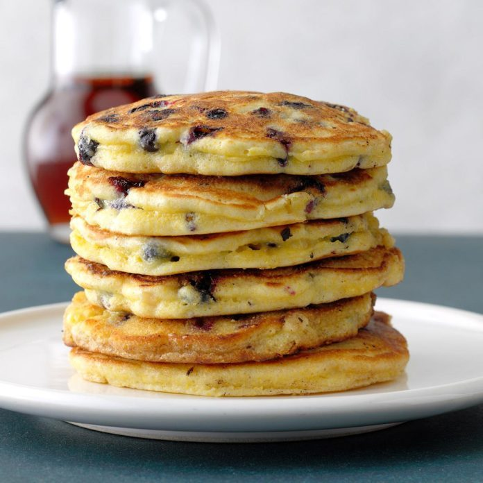Blueberry Cornmeal Pancakes