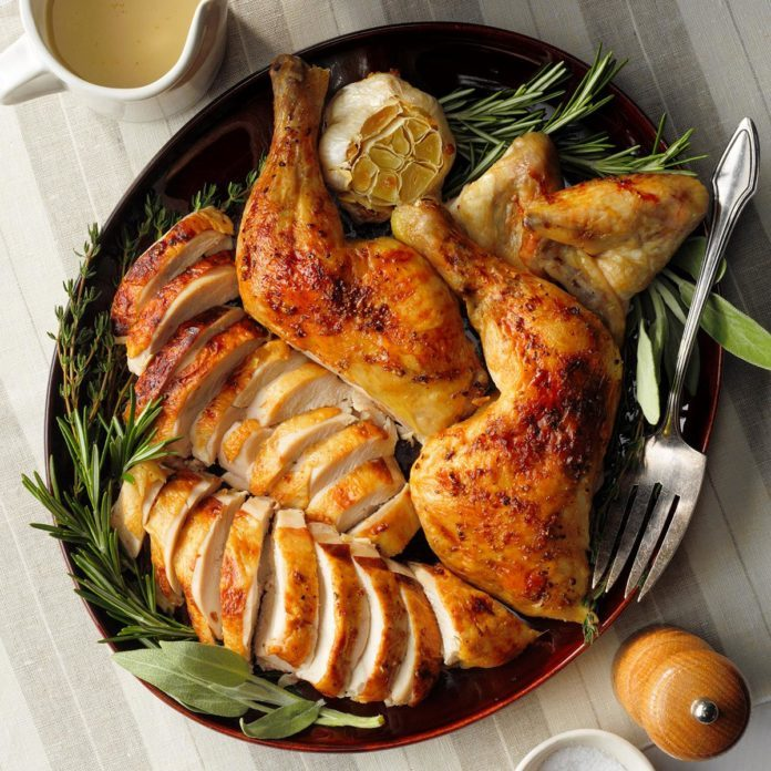 Buttery Herb Roasted Chicken Exps Tohfm20 83383 E09 25 4b 4