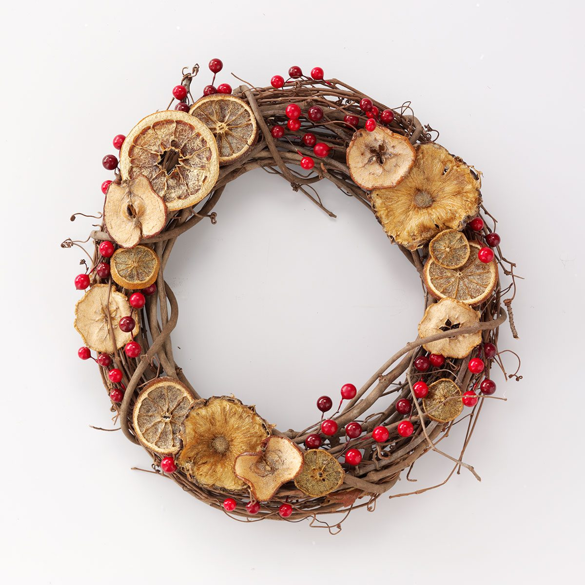 Citrus and Cranberry Wreath
