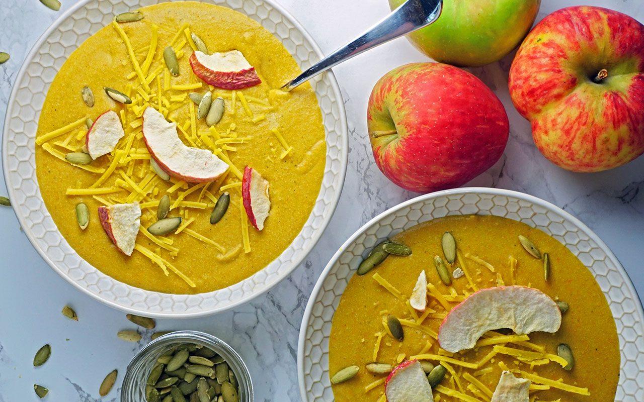 Cheesy vegan vegetable soup