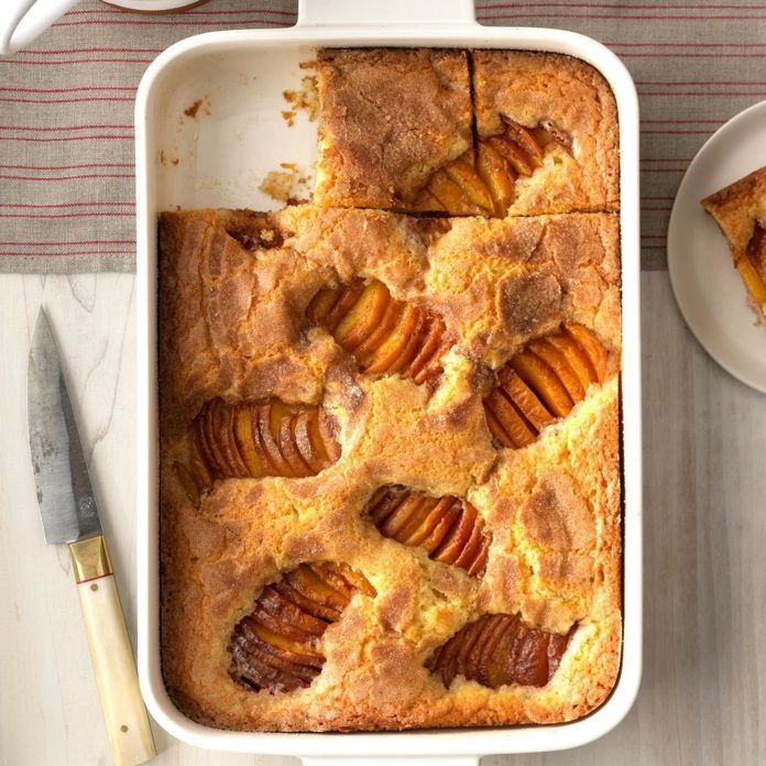 Cinnamon-Sugar Peach Kuchen