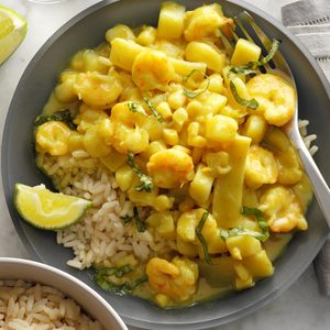 Curry Shrimp and Rice