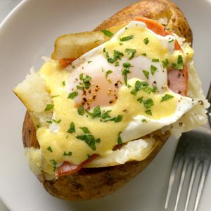 Eggs Benedict Baked Potatoes