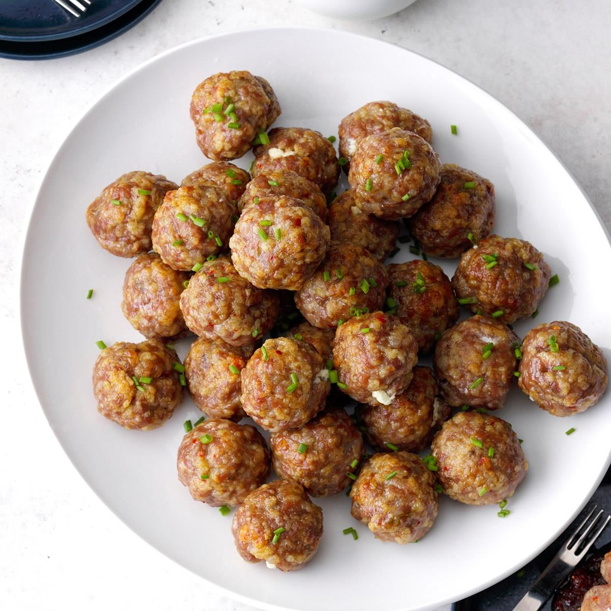 Fig and Goat Cheese Meatballs