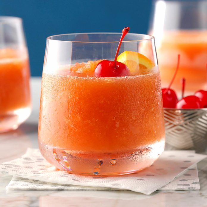 Frozen Brandy Old-Fashioneds