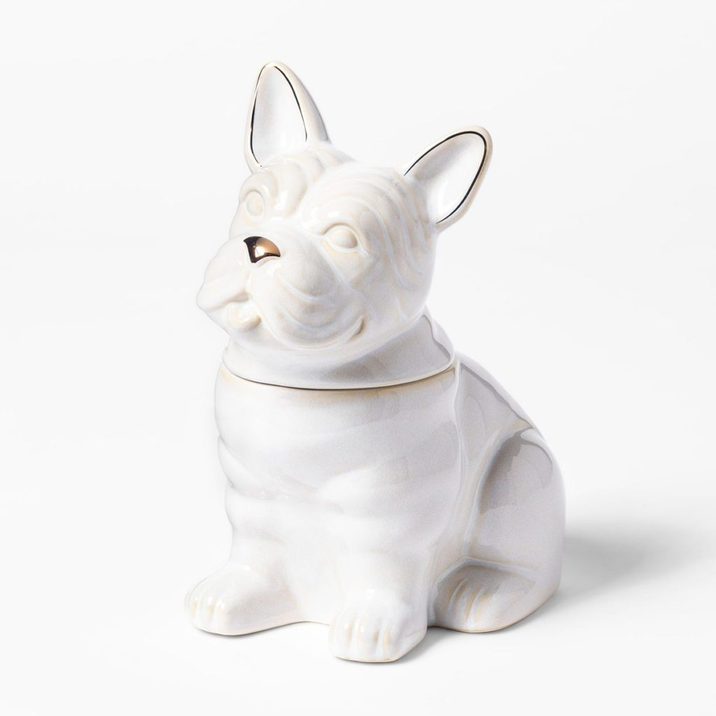 french bull dog cookie container