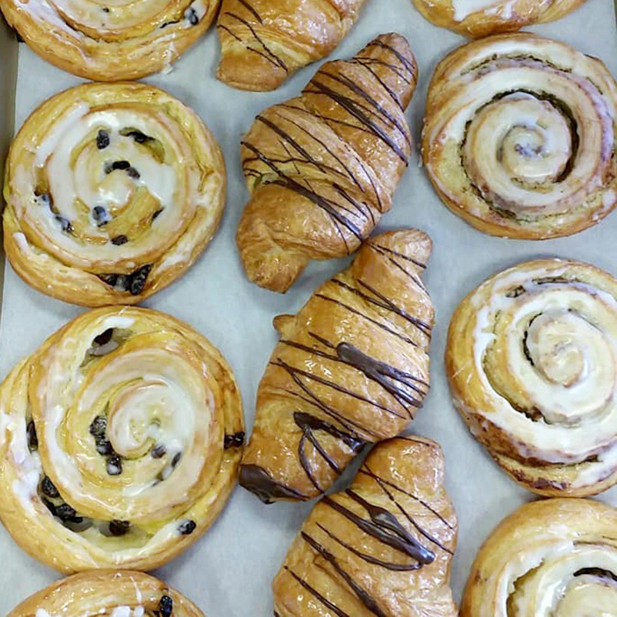pastries on baking trey German Bread Bakery, Las Vegas