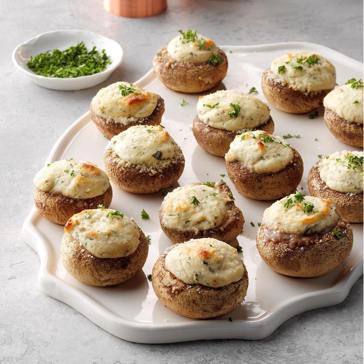 Cream Cheese-Stuffed Mushrooms