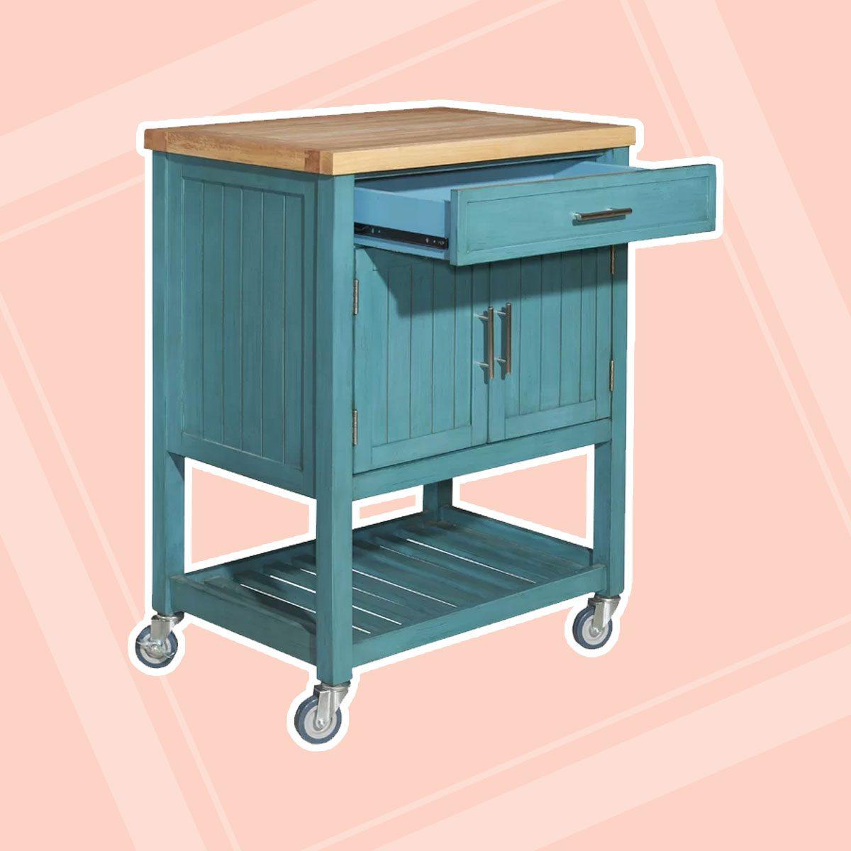 Kitchen Cart with Butcher Block