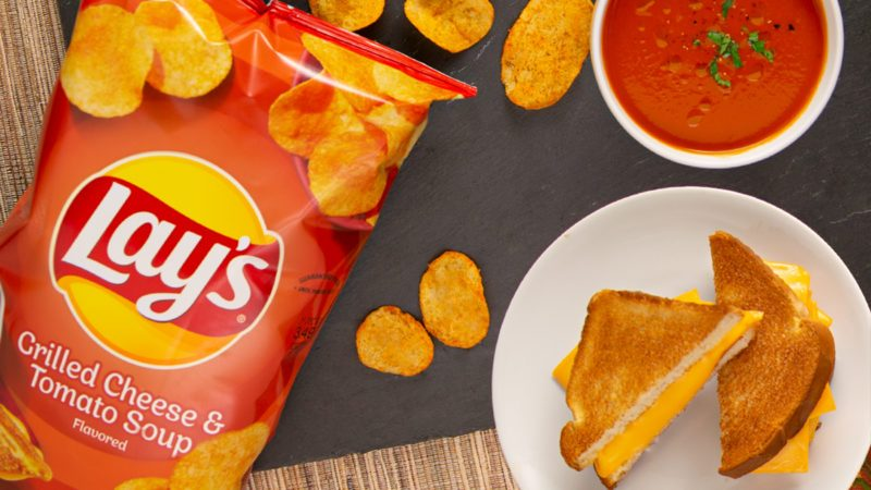 lays grilled cheese and tomato soup chips