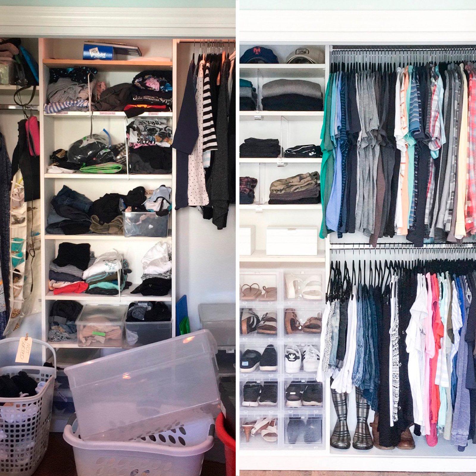 closet home organization makeover